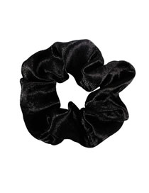 Fashion Black Cloth Hair Ring