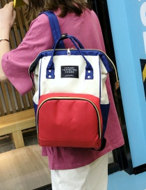 Fashion Color Matching Contrast Stitching Mummy Bag