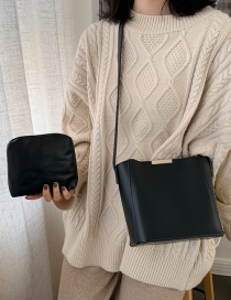 Fashion Black Solid Color Shoulder Shoulder Bag