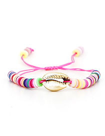 Fashion Color Rice Beads Woven Shell Bracelet