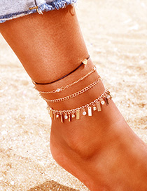 Fashion Golden Love Heart Anklet Set