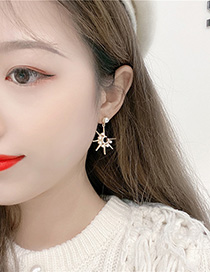 Fashion Yellow C-shaped Pearl Earrings