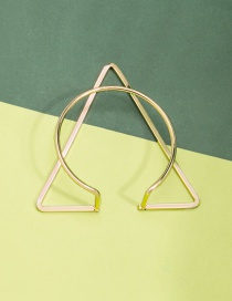 Fashion Golden Geometric Triangle Cutout Alloy Bracelet
