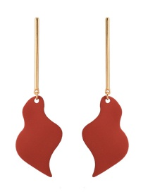 Fashion Red Flaming Paint Metal Earrings
