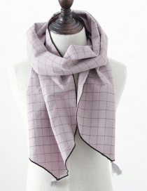 Fashion Pink Checked Fringed Children's Scarf