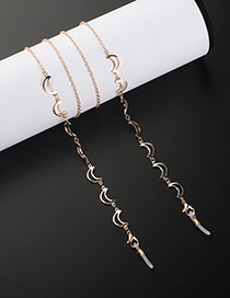 Fashion Golden Hollow Moon Chain Glasses Chain