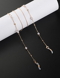 Fashion Golden Pearl Beaded Eyeglasses Chain