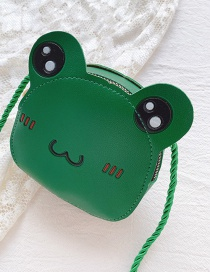 Fashion Little Green Frog Frog Children Crossbody Shoulder Bag