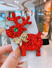 Fashion Red Elk Christmas Elk Child Hair Clip