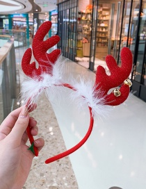 Fashion Feather Bell Antlers Headband Antler Bell Child Headband