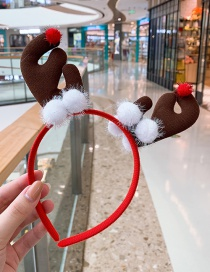 Fashion White Antler Hair Ball Child Headband