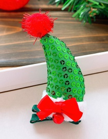 Fashion Green Hat-bow Christmas Hat Bow Bell Child Hairpin