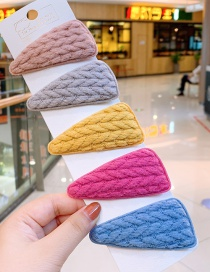 Fashion Triangle Bright Yarn Triangular Wool Children's Hair Clip Set