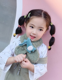 Fashion Green Lambskin Crocodile Children Scarf