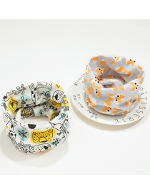 Fashion 1 # Animal Department + Little Fox (2 Pieces) Fox Tiger Children's Collar Set