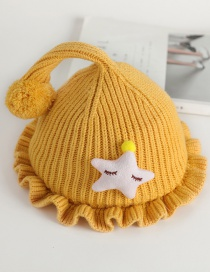 Fashion Ginger Fungus Star Baby Hat