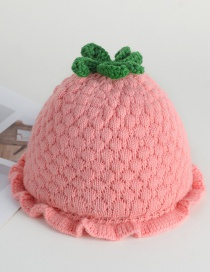 Fashion Orange Strawberry Lace Baby Hat
