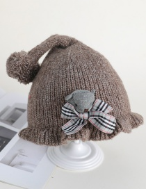 Fashion Chocolate Color Bow Bear Baby Hat