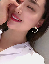 Fashion Golden Matte Gold Love Bump Irregular Earrings