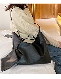 Fashion Black Beige Solid Color Shoulder Bag