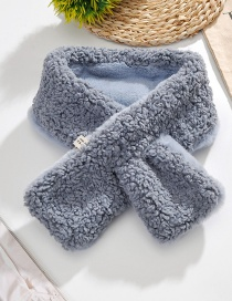 Fashion Haze Blue Lamb Plush Scarf