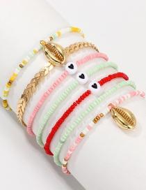 Fashion Color Mizhu Love Shell Bracelet Set