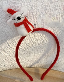Fashion Hair Band-white Red Scarf Hooded Little Mouse Child Hair Hoop