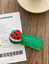 Fashion Embroidery-watermelon Watermelon Embroidered Dumplings Hairpin