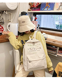 Fashion White Letter Canvas Backpack
