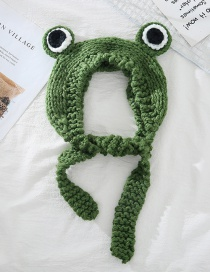 Fashion Green Frog Frog Wool Big Eyes Knitted Hat