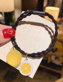 Fashion Yellow Lemon Lemon Hit Color Hair Rope