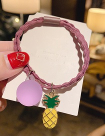 Fashion Purple Pineapple Pineapple Sphere Hit Color Hair Rope