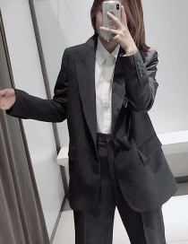 Fashion Gray Pocket One-button Suit