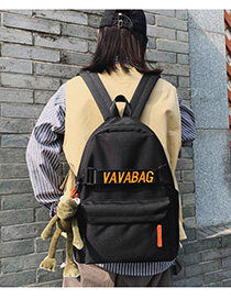 Fashion Orange With Pendant Patchwork Embroidered Backpack