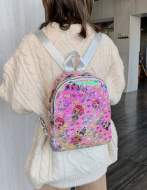 Fashion Figure Five Powder Sequin Doll Backpack