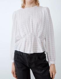 Fashion White Stretch-textured Tunic