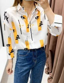 Fashion Color Tree Of Life Lapel Shirt