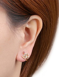 Fashion Golden Crown U-shaped Ear Clip