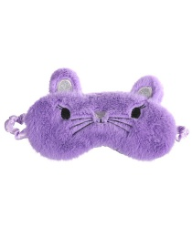 Fashion Violet Cat Shading Plush Children's Eye Mask