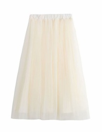 Fashion Off-white Pleated Skirt