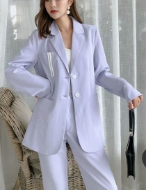 Fashion Purple Small Suit With Contrasting Sleeves