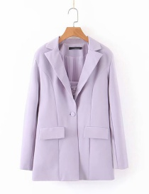 Fashion Lavender One Button Suit
