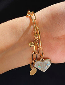 Fashion Golden Acrylic Love Circle Geometric Bracelet