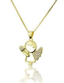 Angelito Con Collar De Diamantes De Amor