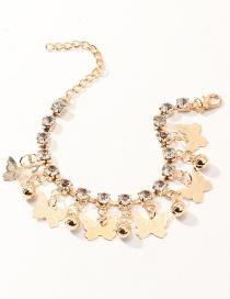 Fashion Golden Diamond Ball Butterfly Bracelet