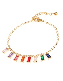 Fashion Color Contrast Stainless Steel Bracelet With Diamonds
