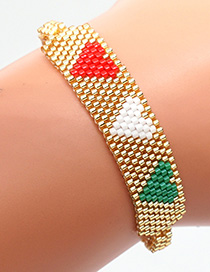 Fashion Golden Mizhu Hand-woven Love Contrast Bracelet