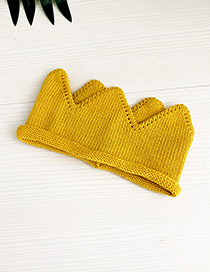 Fashion Yellow Crown Knit Hat Children