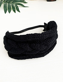 Fashion Black Knit Adult Hairband