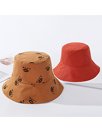 Fashion Orange Letters Printed Double-sided Wear A Hat